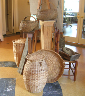 Baskets made from local timber products